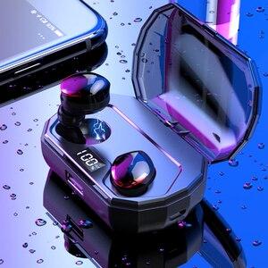 Image 4 - بلوتوث 5.0 TWS R10 سماعة 5.0 سماعات لاسلكية مع هيئة التصنيع العسكري للماء ل هاتف ذكي
