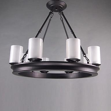 90V-220V Oil Rubbed Bronze Lighting LED Chandelier With 8 Lights Home Chandeliers For Dinnig Living Room Lustres Free Shipping