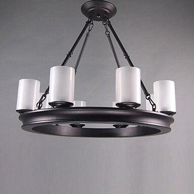 90V 220V Oil Rubbed Bronze Lighting LED Chandelier With 8 Lights Home Chandeliers For Dinnig