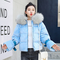 abrigos mujer invierno 2018 cotton padded jacket casual winter jacket women short parka fur collar coat bread coat thick 82001
