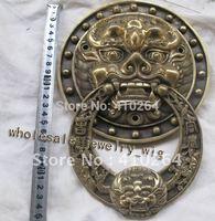 SCY large Knocker Lion head bronze statue