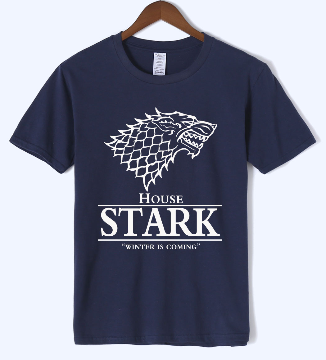 T-shirt 2018 summer House Stark printed mens T-shirts The Song of Ice and Fire Winter Is Coming t shirt men harajuku O-neck top
