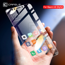 CAFELE Tempered Glass For Xiaomi MI6 MI 6 6X A2 Screen Protector 2.5D Curved Edge HD Clear Protective Film