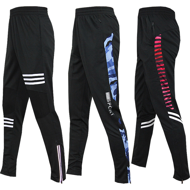 Mens Running Pants Gym Athletic Football Soccer Training Pants Fitness Workout Jogging Quick Dry Running Sport Trousers