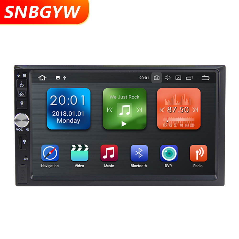 "7"" Car Stereo 2 din Android 8.1 Car Multimedia Player Bluetooth 3G WIFI GPS Navigation Radio Video Audio USB AUX IN 2DIN DH079"