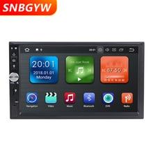 7 «стерео 2 din Android 8,1 автомобильный мультимедийный плеер Bluetooth 3g Wi Fi gps навигации радио Видео Аудио USB AUX в 2DIN DH079