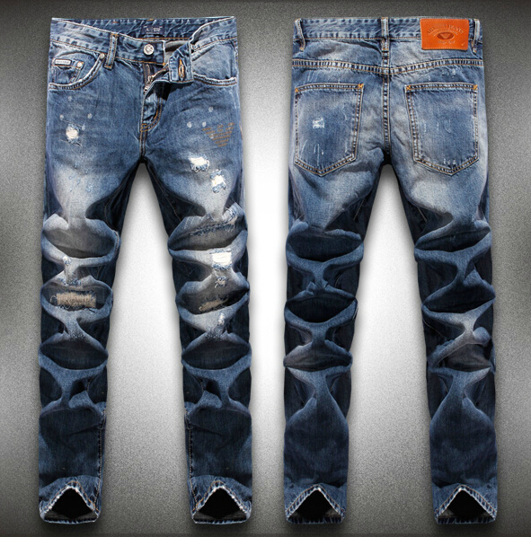 Free shipping 2014 Autumn and winter NEW men s brand trend personality jeans plus size fashion