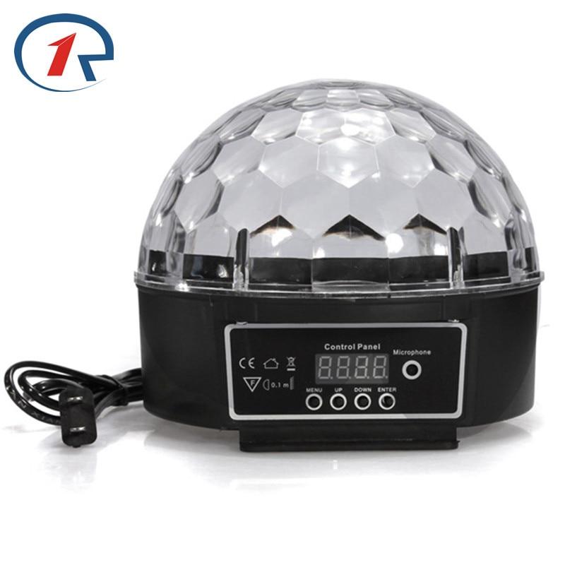 ZjRight IR Remote DMX512 Disco LED stage Lights Digital Crystal Magic Ball holiday birthday party effect light KTV bar DJ lights
