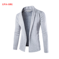 L G Sweater Men 2017 Brand Concise V Neck Sweater Coat Cardigan Male Solid Color Slim