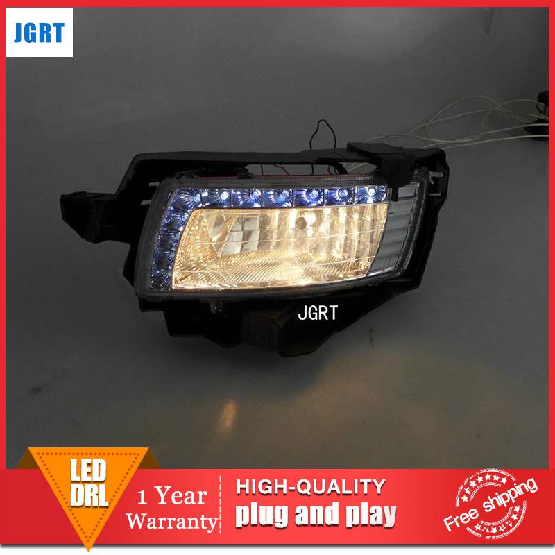 car styling 2013-2014 For Toyota Innova LED DRL For Innova led fog lamps daytime running light High brightness guide LED DRL