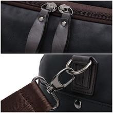 33910c148255 Men s PU Leather Sports Bag Duffel Tote Handbags Travel Bag for Gym Fitness  Male Bag Man Women Camping Brown Black Coffee Blue