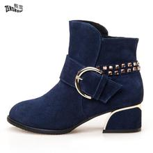 2017, Autumn And Winter New Women's Shoes, Flat Bottom With Leather, Short Boots, Winter And Winter Short Sleeve, Naked Boots