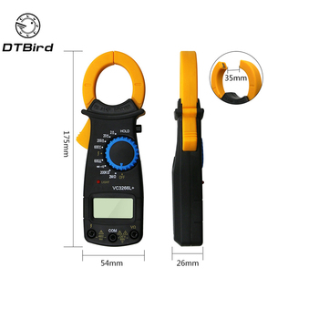 VC3266L LCD Digital Clamp Multimeter AC DC Volt Voltage Amp Ohm Electronic Tester Meter Live Wire Identification telephony