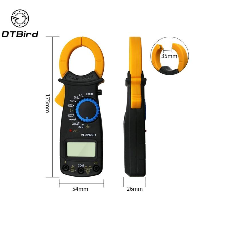VC3266L LCD Digital Multimeter AC DC Volt Spannung Amp Ohm Elektronische Tester Meter Live Draht Identifikation DT6