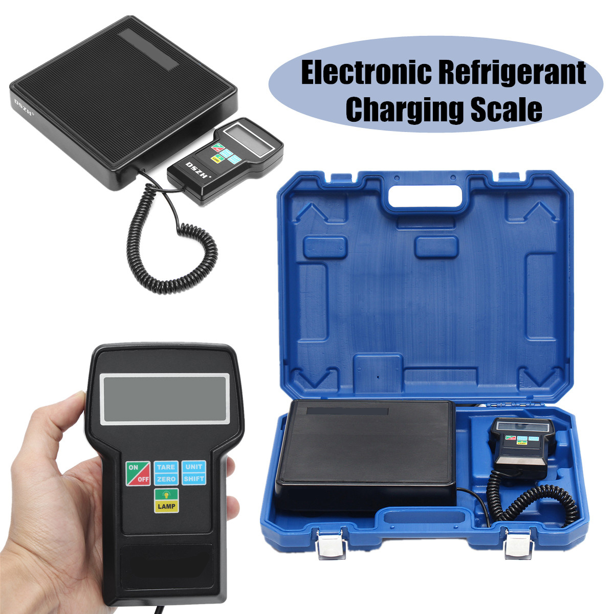 Digital Electronic Refrigerant Charging Scale Weighing Weight HVAC Precision Car Refrigerant With English Instruction
