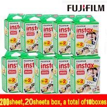 200 hoja envío libre fujifilm instax mini film blanco borde 200 unids para Instax mini 7 s 8 25 50 90 SP1 Cámara HECHA EN JAPÓN