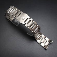 Curved end watchband for brand special 22mm Silver High Quality Stainless Steel band solid link bracelet  Luxury strap for men