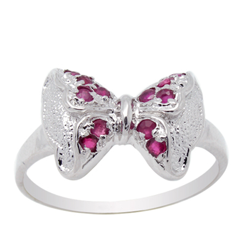 2017 New Qi Xuan_Fashion Jewelry_Red Stone Elegant Butterfly Rings_S925 Solid Sliver Fashion Rings_Manufacturer Directly Sales 2017 New Qi Xuan_Fashion Jewelry_Red Stone Elegant Butterfly Rings_S925 Solid Sliver Fashion Rings_Manufacturer Directly Sales