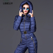 Warm Thicker White Duck Down Women Winter Clothing Winter Thick Suit Down Jacket Down Pants Female