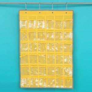 36cases mobile phone hanging bag classroom dormitory multilayer bag door wall hanging pocket bag Hanging Organizers 55*80cm