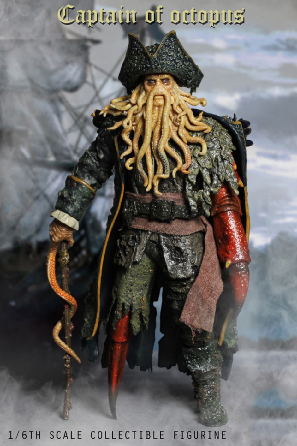 1/6 Caribbean Captain Action Figure Davy Jones figure doll full set doll With ACC Colletible Model Toys And original box 12