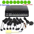 best selling Car Parking SensorAuto Detecting Buzzer 8 Sensors Reverse Radar Detectors 44 colors available round shape