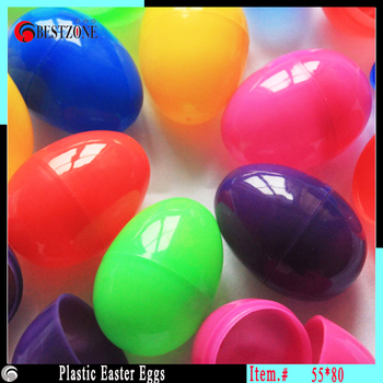 Online shop colorful plastic easter eggs or plastic eggshell 55 lovely multicolor plastic easter eggs large size 55x80mmegg for marriage decoration or festival gifts negle Gallery