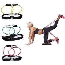 Попа ягодицы клейкие резинки регулируемый пояс мощный фитнес прикладом тренировки упражнения на ногах повязки для тренировки