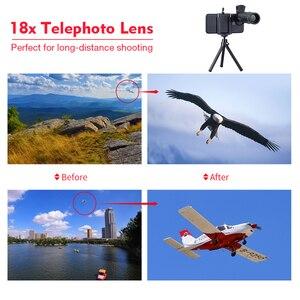 Image 4 - APEXEL 18X Télescope Zoom Mobile Lentille de Téléphone pour liphone Samsung Smartphones universel clip Telefon Camera Lens avec trépied 18 XTZJ