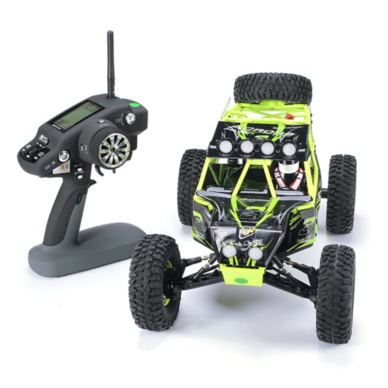 <font><b>10428</b></font> 1/10 2.4G 4WD RC Monster crawler RC Car Electric Climbing Car Remote Control toy LED Light Speed 30KM / h image
