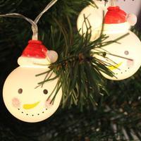 2017 NEW 20 LED Outdoor String Light Garden Christmas Snow Head Party Fairy Lamp S920