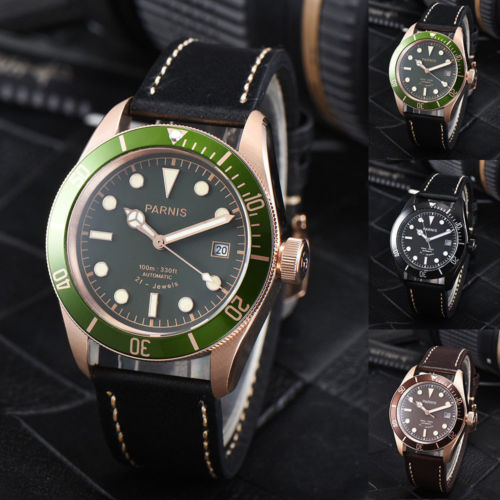 41mm Parnis Black Brown Green Dial Sapphire Glass Watch 10 ATM Water Resistant Miyota 8215 Automatic Movement mens Watch41mm Parnis Black Brown Green Dial Sapphire Glass Watch 10 ATM Water Resistant Miyota 8215 Automatic Movement mens Watch