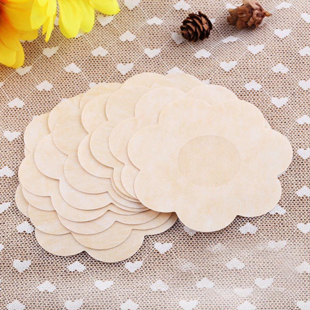 Nipple Covers 10/20/50pcs Disposable Sexy Breast Pad Pastie Intimate Tape Stick On Bra Self-Adhesive Nipple Stickers One Size