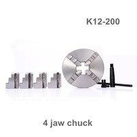 K12 200 4 jaw chuck/200MM manual lathe chuck/4 Jaw Self centering Chuck|Chuck|Tools -