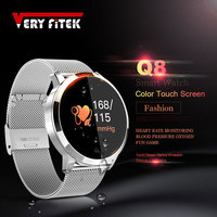 VERYFiTEK Q8 Heart Rate Monitor Smart Watch Blood Pressure Oxygen SmartWatch IP67 Pedometer Men Women Sport Fitness Watches