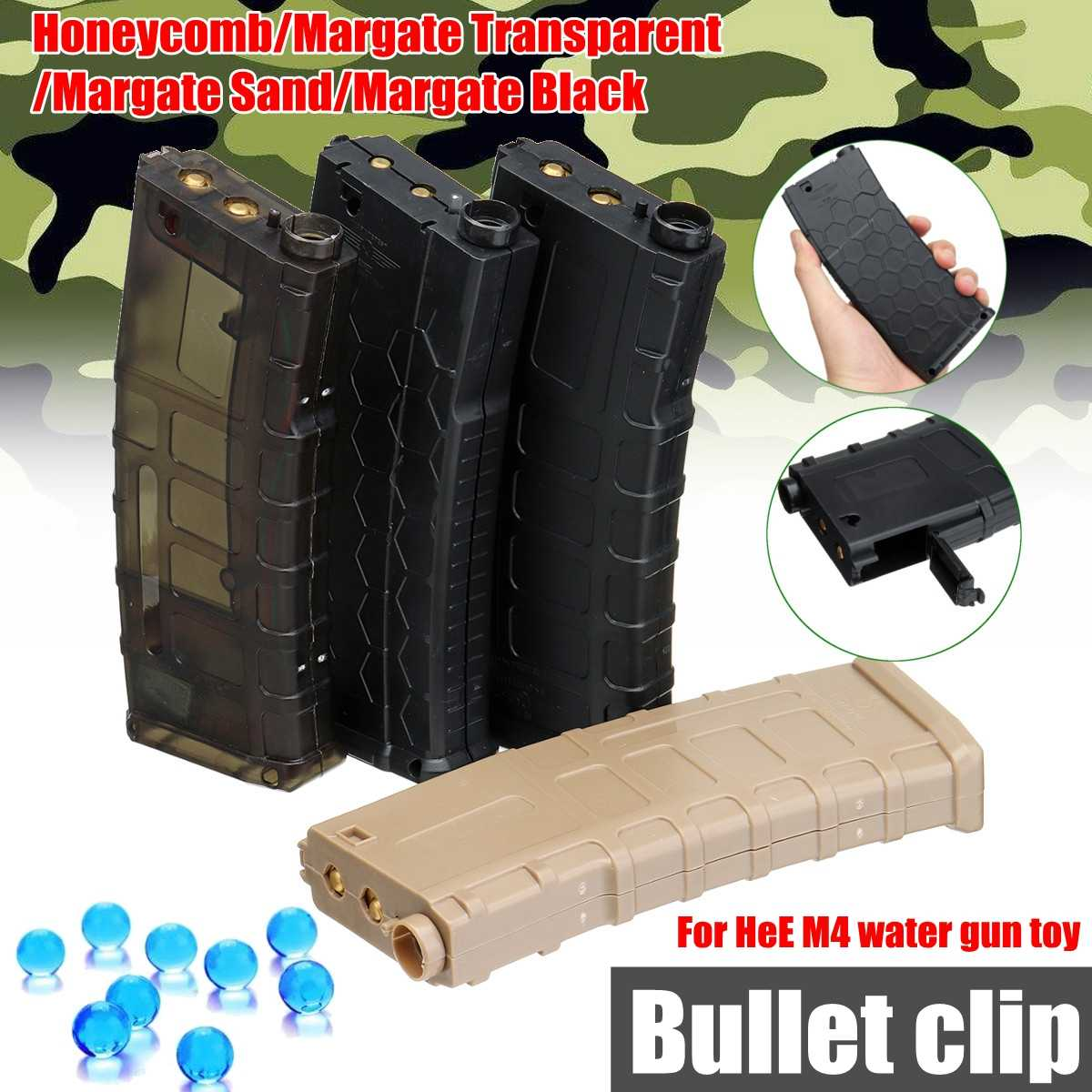Magazine For Jinming JM 1/2/3/8Th Gen8 M4A1 Gel Ball B laster Upgrade Accessories