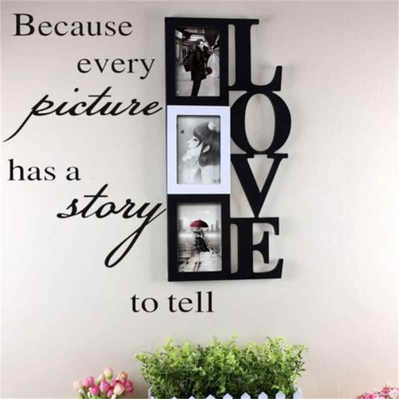 Because Every Picture has a story to tell vinyl wall stickers home decor wall decal photo frame decor living room bedroom poster