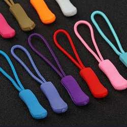 Мода 10 шт сплошной цвет нейлоновый шнур починка молнии Pull Tab Fadeless Нескользящий Захват
