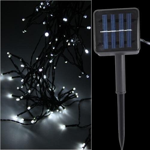 FDDT 100 font b LEDs b font White Light font b Strip b font Light Solar