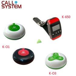 100pcs única chave botão 50pcs 3-chave transmissor 20 pulso pager Chamada Garçom Sem Fio Sistema de Bell para o restaurante
