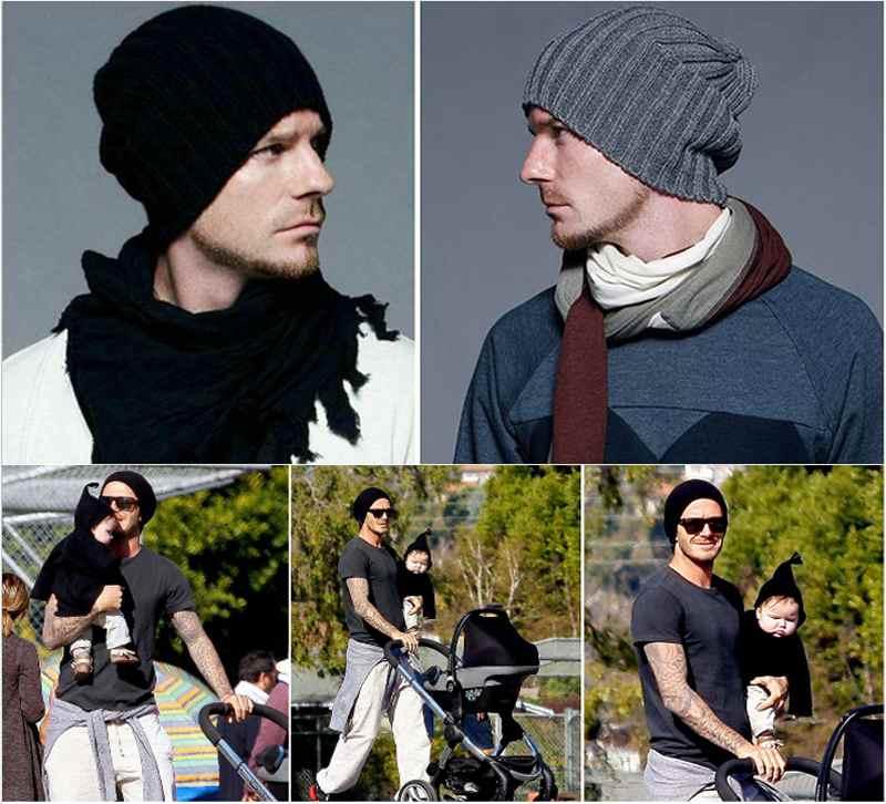 Unisex Men Hip-Hop Warm Winter Wool Knit Outdoor Ski Slouchy Cap Hat Hot Sale Black/ Gray Color hot winter beanie knit crochet ski hat plicate baggy oversized slouch unisex cap