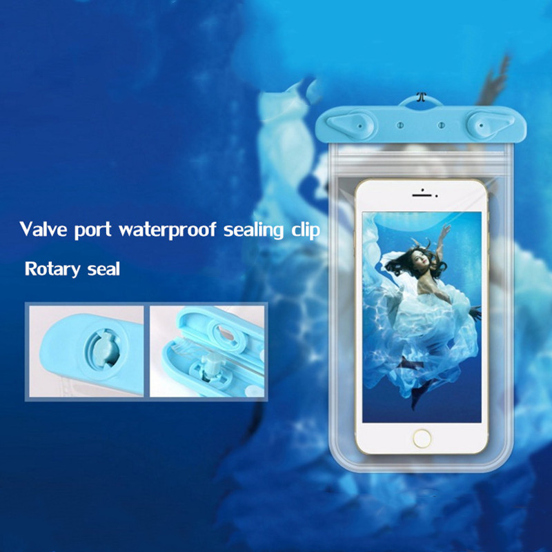 Travel Waterproof Phone Coin Bag Men Women Wallet Beach Swimming Portable Phone Pouch Case Phone Cover Travel Accessories
