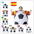 2016 New Soccer Inflatable Costume Football for Halloween Party Mascot Fancy Blow Up Dress Carnival Inflatable Ball Suit