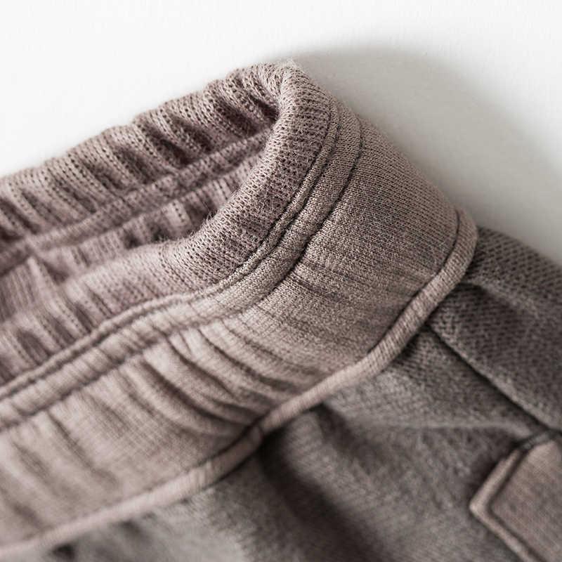 Markless spodnie bawełniane mężczyźni 2018 jesień moda na co dzień luźne ołówek spodnie Plus rozmiar S-3XL długie spodnie pantalon hombre CLA8825M