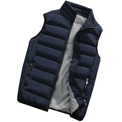 Male Cotton Vest Autumn and Winter Male Vest Couple Solid Color Thickening Vest Men Sleeveless Vest Jacket Waistcoat Large Size-in Vests & Waistcoats from Men's Clothing