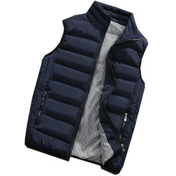 Male Cotton Vest Autumn and Winter Male Vest Couple Solid Color Thickening Vest Men Sleeveless Vest Jacket Waistcoat Large Size фото