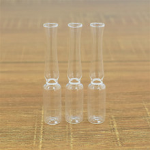 630 pcs/lot 1ml clear glass ampoule international standard easy breaking-white band ring deposited microorganism strains