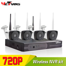 HD Surveillance Camera System 720P 4CH Plug Play 20m Night Vision P2P Wireless Home Security Camera CCTV Wifi System Outdoor