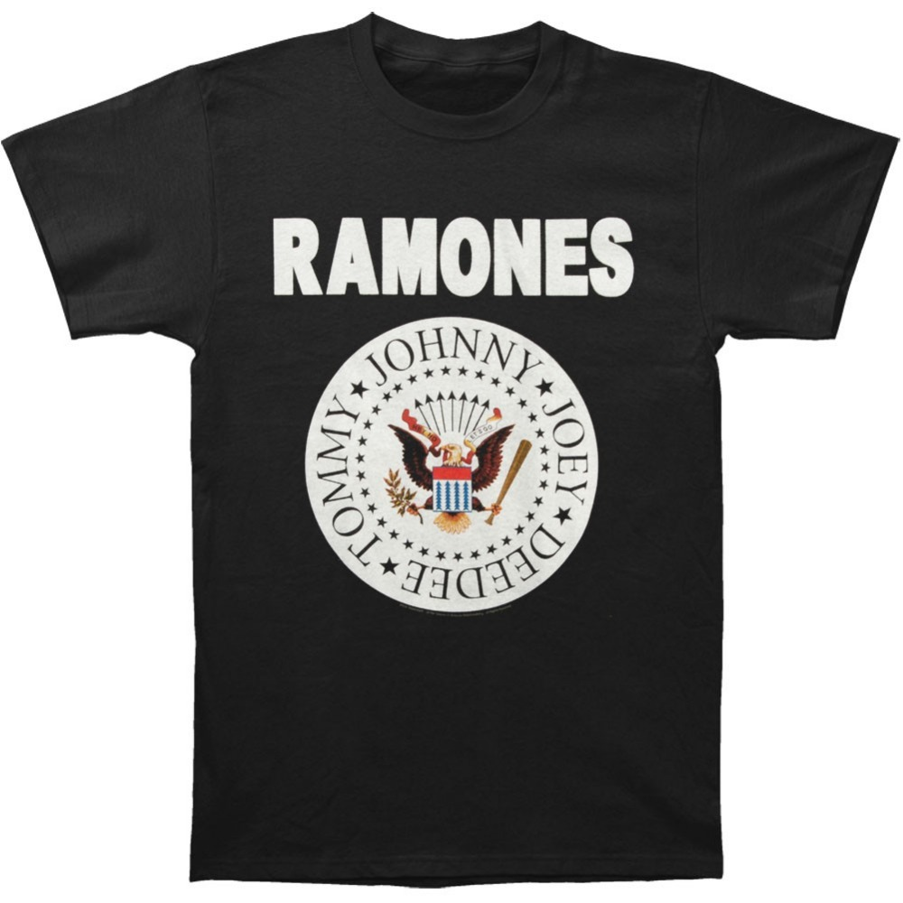 The RAMONES Punk Rock T Shirt Destroyer Brazil Ramones Seals CJ Ramone American Tee euro sizeS-XXXL