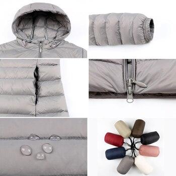 Matt Fabric 5XL 6XL Plus Long Down Jacket Women Winter Ultra Light Down Jacket Women With Hooded Down Coat Female Big Size Coats 4